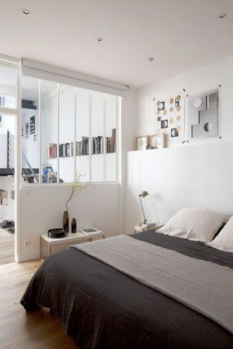 chambre avec verrière blanche   bedroom   archi inter   Pinterest ...