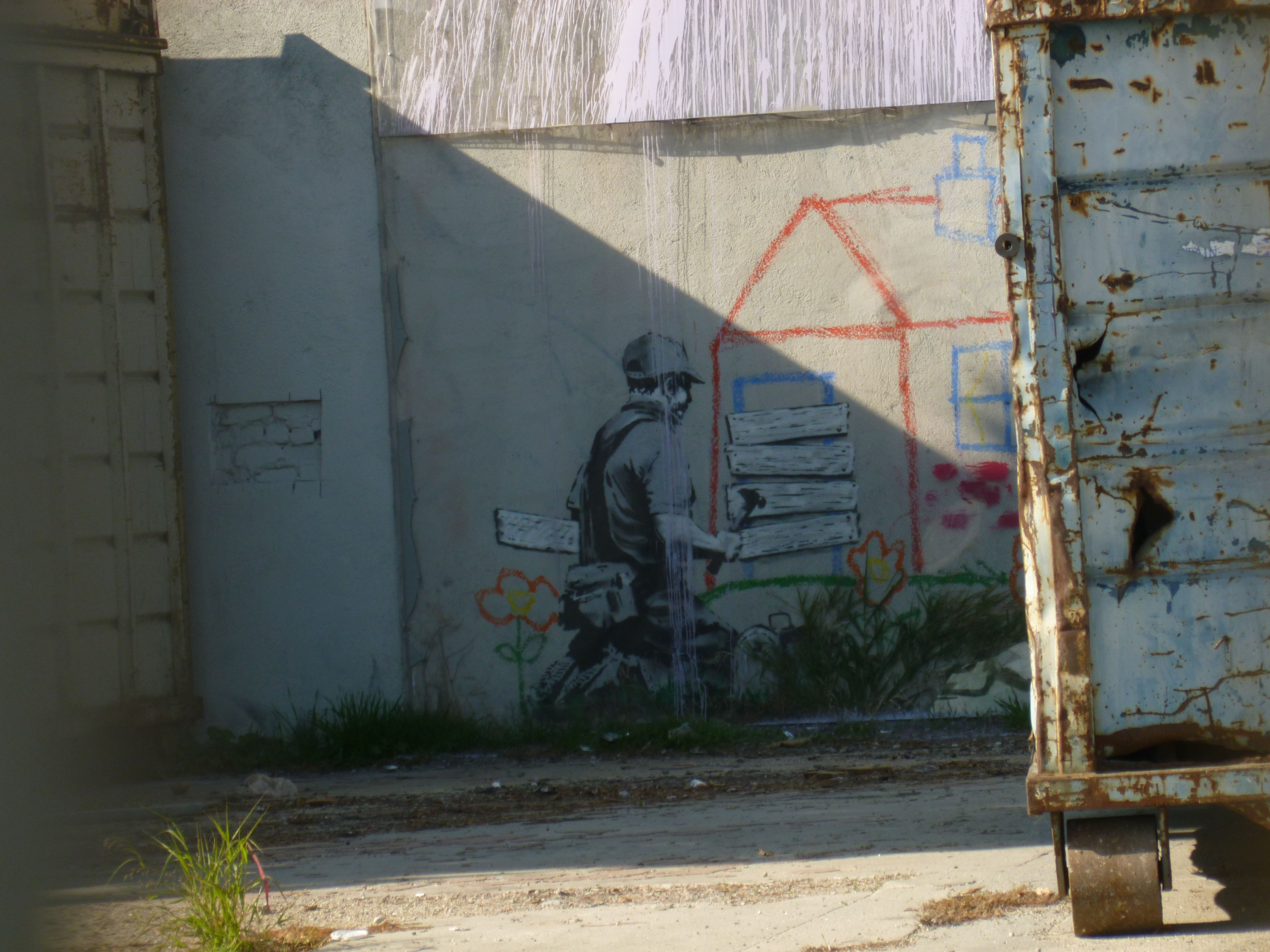 Banksy in East LA, had to trespass a little to see this one ;)