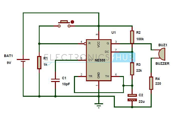 panic alarm circuit diagram working and applications tech rh pinterest com