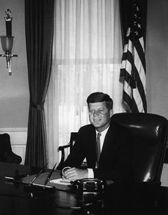 John F. Kennedy was the 35th U.S. president in 1962