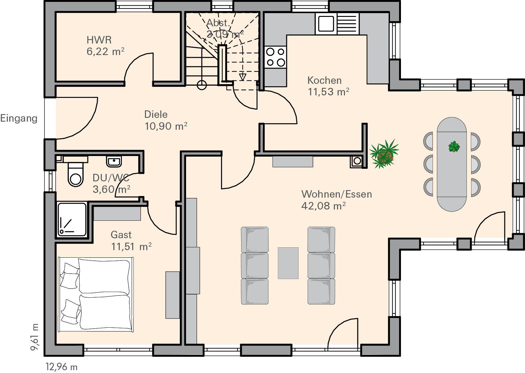 wandgestaltung treppenhaus reihenhaus planen. Black Bedroom Furniture Sets. Home Design Ideas