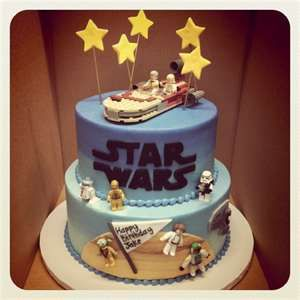 Swell Star Wars Birthday Cake With Images Star Wars Birthday Cake Funny Birthday Cards Online Overcheapnameinfo
