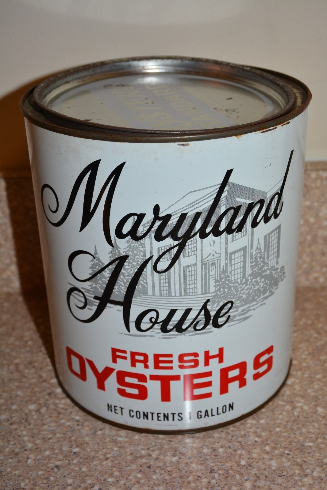 Vintage Maryland House Oyster Can Tangier Sound Oysters