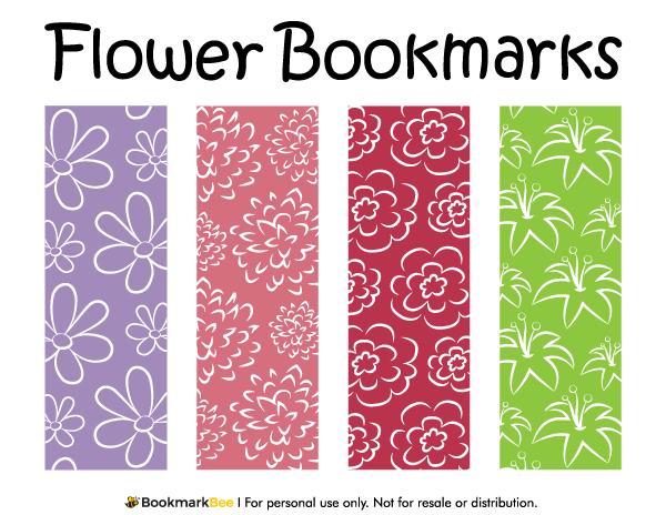 Printable Flower Bookmarks Flower Bookmark Creative Bookmarks Bookmarks Printable