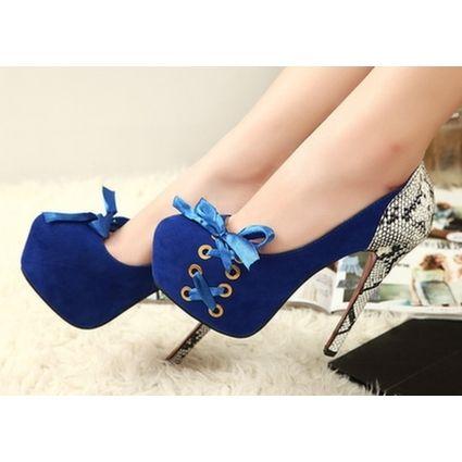 Sapato Boneca Azul