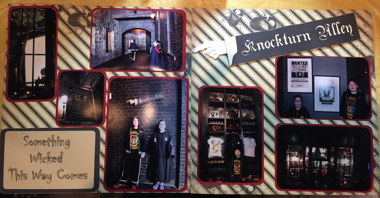 Knockturn Alley 2 Page Scrapbook Layout Harry Potter Universal