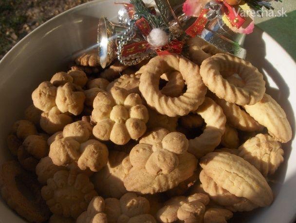Vianočné lisované keksíky (fotorecept)
