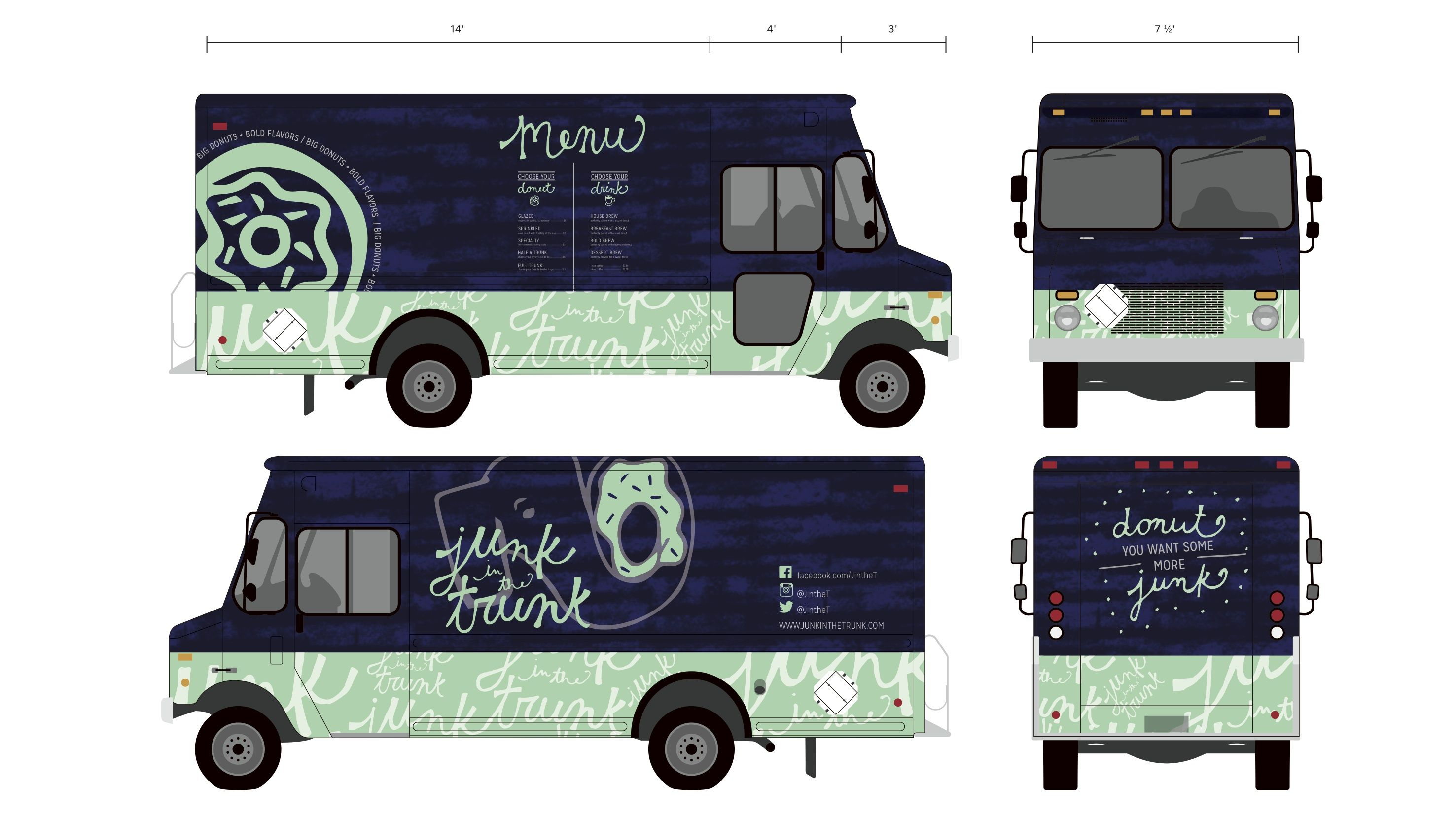 Template Of Food Truck