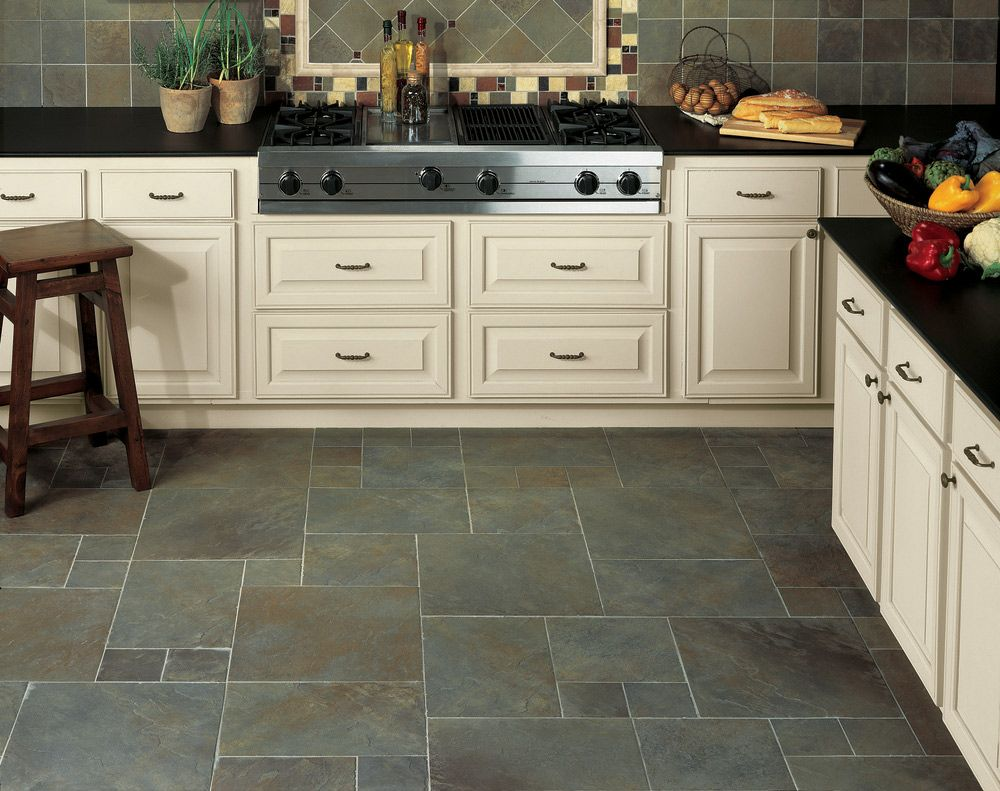 Continental Slate 18 X 18 Brazilian Green Daltile Slate Kitchen Slate Floor Kitchen Kitchen Flooring