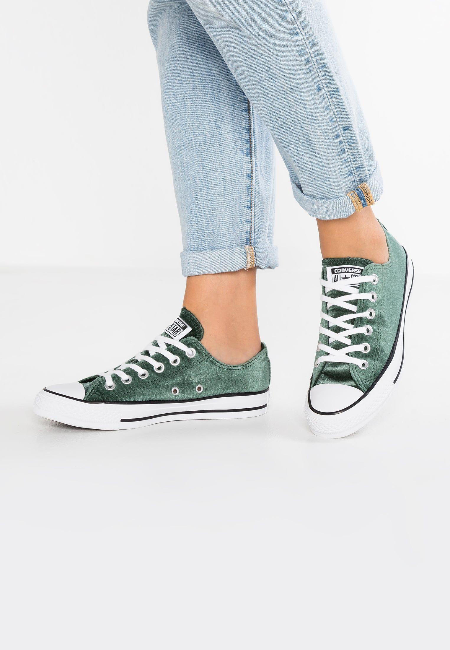 9e8169665c8 Converse CHUCK TAYLOR ALL STAR VELVET - Sneakers laag - deep emerald/white  - Zalando.nl