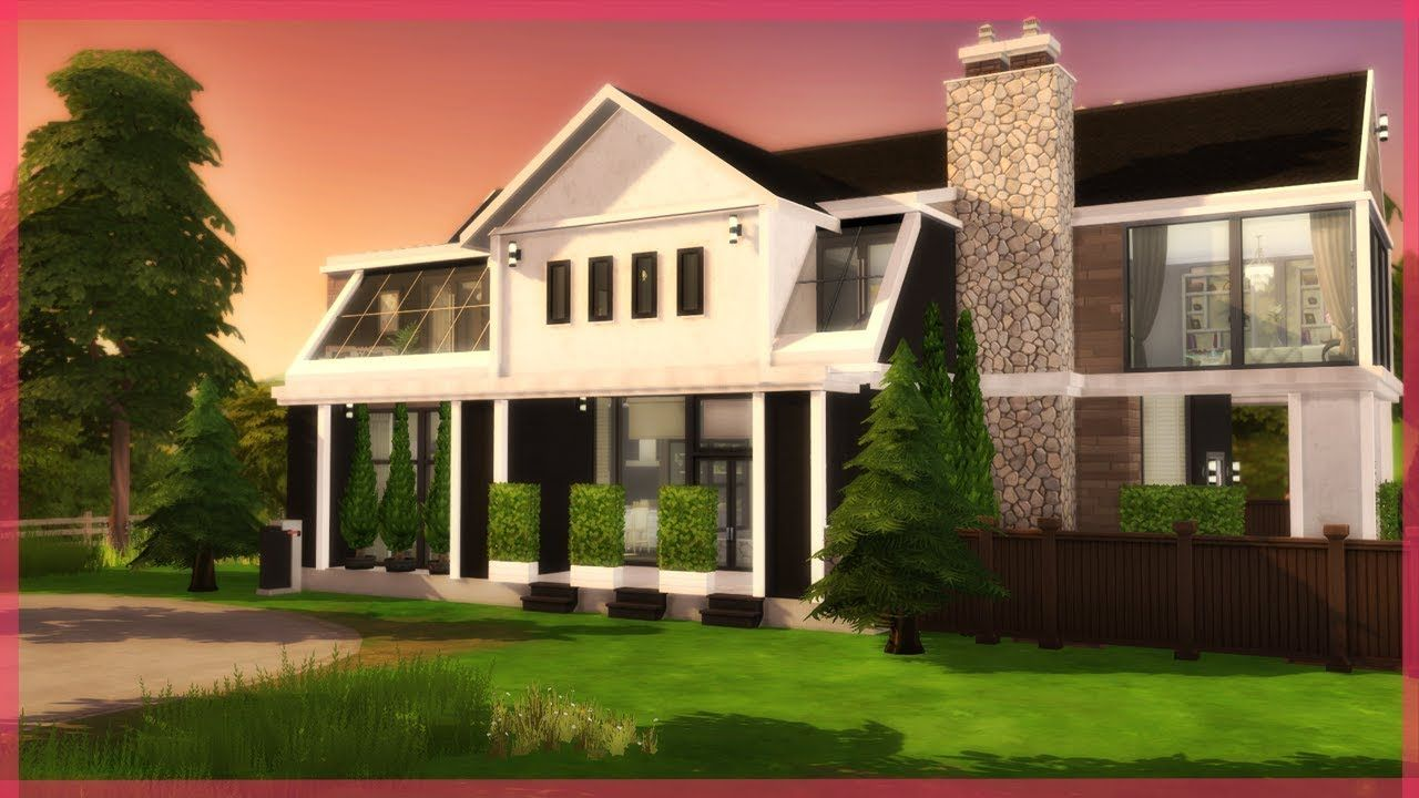 Luxury Modern Family Home The Sims 4 Speed Build