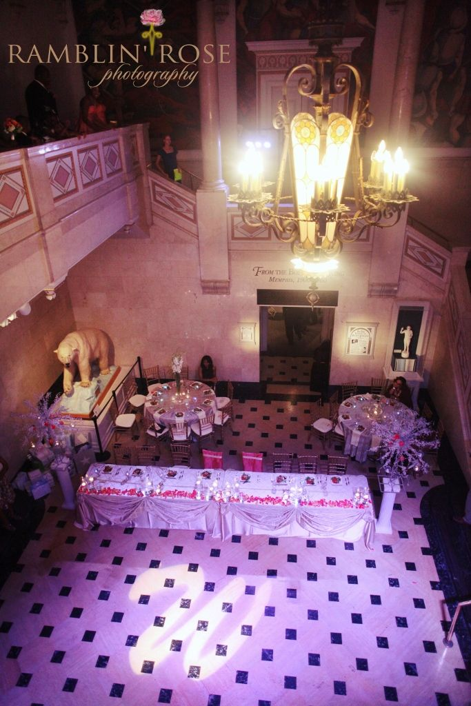 Wedding Reception By Southern Event Planners At The Pink Palace Memphis Weddings