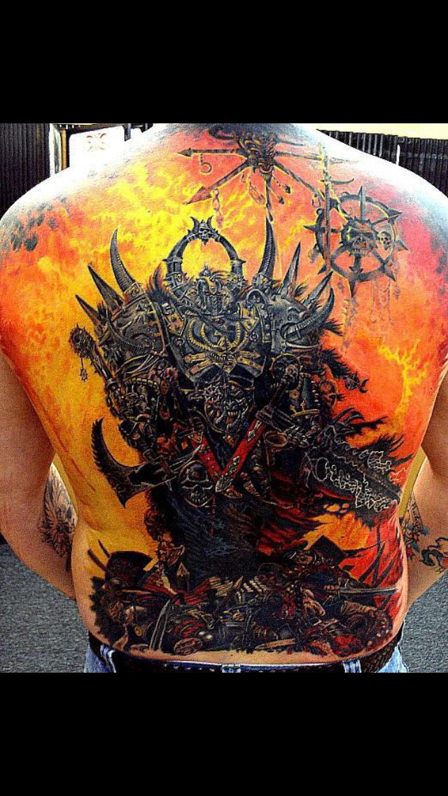 warhammer chaos tattoo great tattoos pinterest chaos tattoo tattoo and amazing tattoos. Black Bedroom Furniture Sets. Home Design Ideas