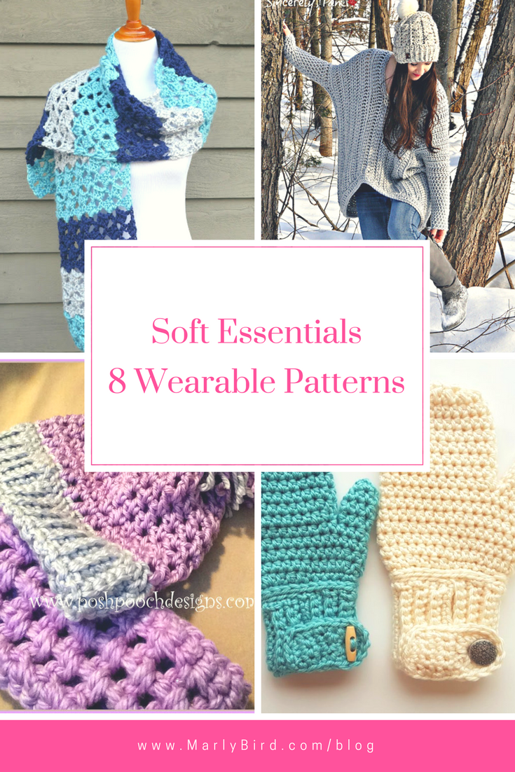Red Heart Soft Essentials 8 Wearable Patterns Roundup by Marly Bird ...