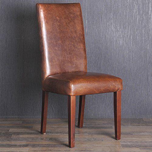 Esszimmerstühle Leder Braun edler spalt lederstuhl esszimmerstuhl lehnstuhl vintage stuhl