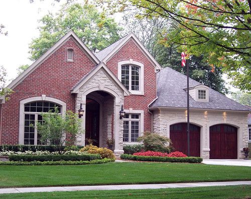 Stucco french country brick design pictures remodel for French country brick exterior