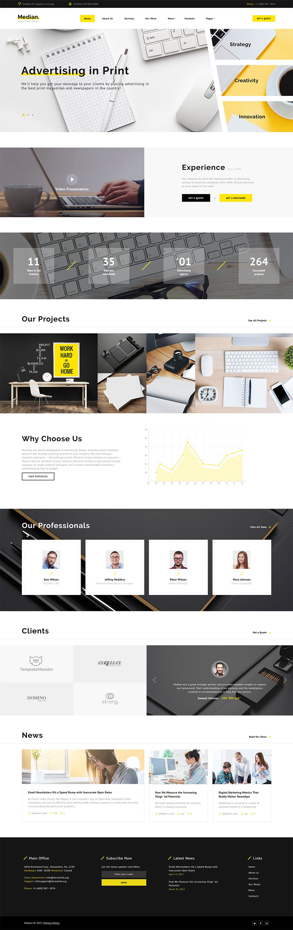 Median - Advertising Agency HTML5 Website Template | Bootstrap ...