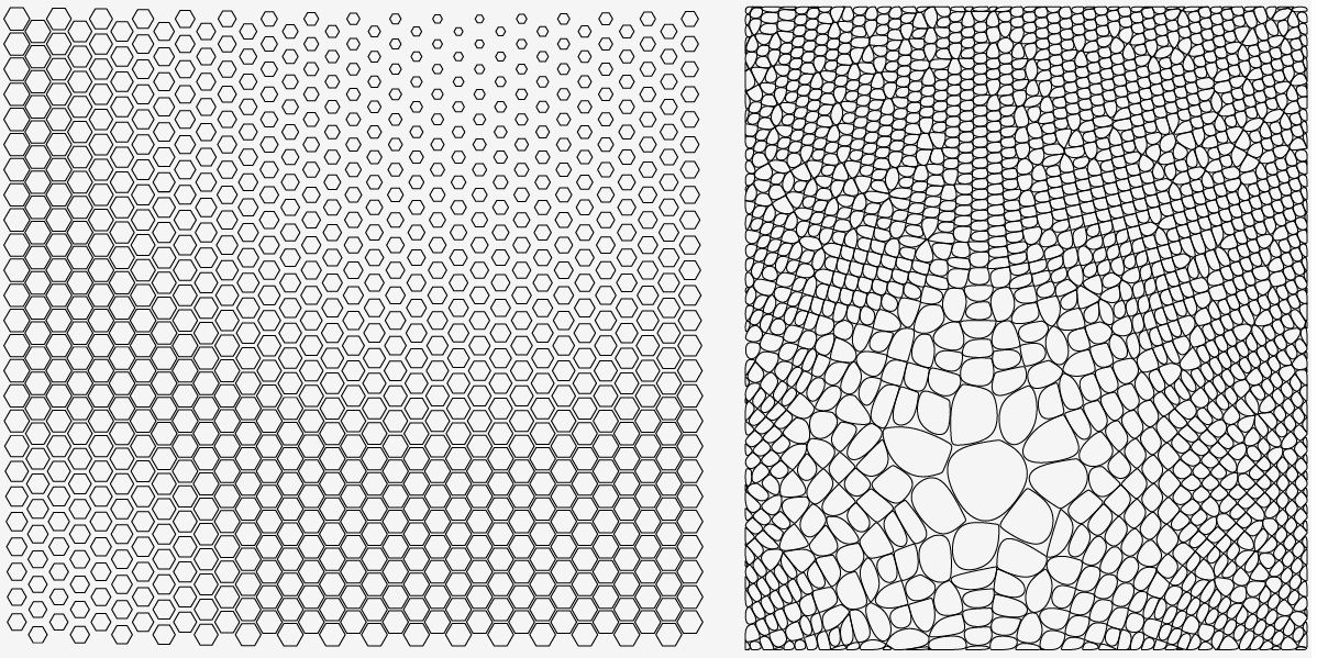 How To Merge A Hexagonal Pattern With A Voronoi Pattern