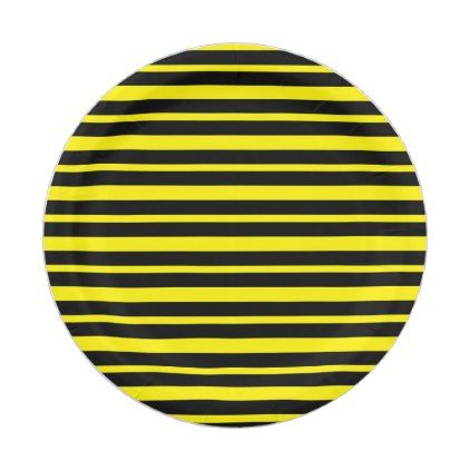 sc 1 st  Pinterest & Thick and Thin Yellow and Black Stripes Paper Plate