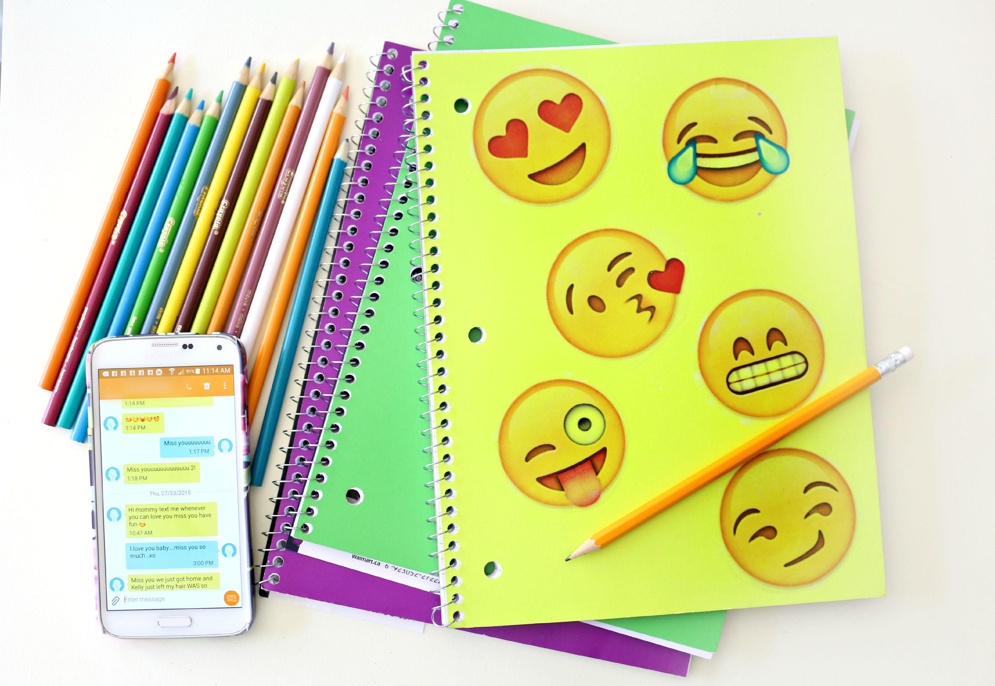 Emoji Inspired Notebook DIY (Craftberry Bush)