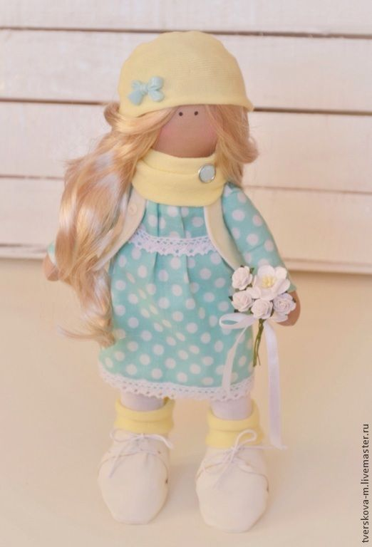 Куколка Весенняя мятно-лимонная - мятный,желтый,лимонный,большеножка,Снежка