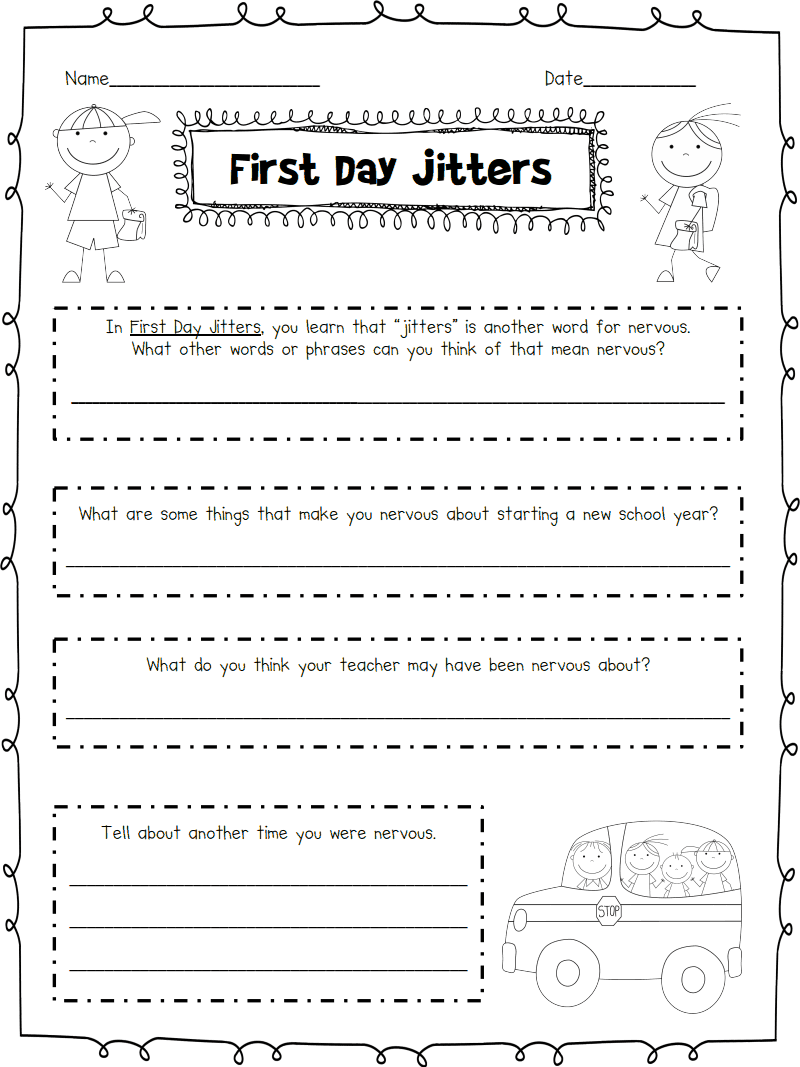 Worksheets First Day Jitters Worksheets first day jitters pdf google drive teaching stuff pinterest drive