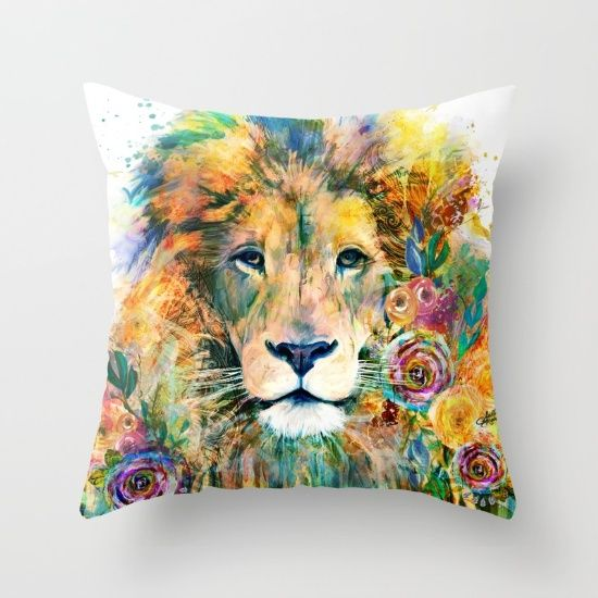 Garden of the Wild ~ LION Throw Pillow