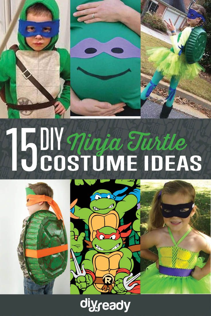 Diy ninja turtle costume ideas carnavales tortuga y ocano 15 diy ninja turtle costume ideas cowabunga cute and creative halloween costumes by solutioingenieria Image collections