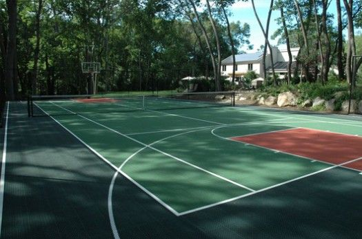 Backyard Tennis Courts: After a day playing tennis ...