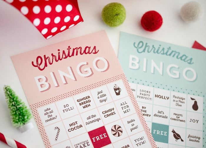 Pajama Christmas Party Ideas Part - 39: Christmas Bingo From A Holiday Pajama Party On Karau0027s Party Ideas |  KarasPartyIdeas.com (