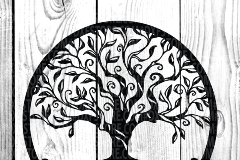 Tree Life Of Tree Family Tree Svg Dxf Eps Png For Cricut And Sihlouett By Dxf Store Thehungryjpeg Com Tree Svg Graphic Design Resources Svg