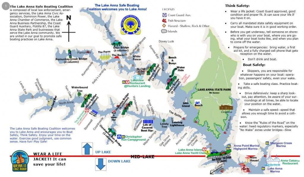 Use This Map To Learn More About The Lake Anna Va Area