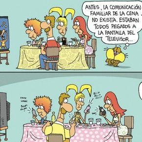 Tira Comica La Comunicacion Familiar De La Cena Vocabulario
