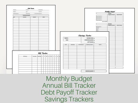 Family Budget Planner Budget Printable Financial Planner Budget