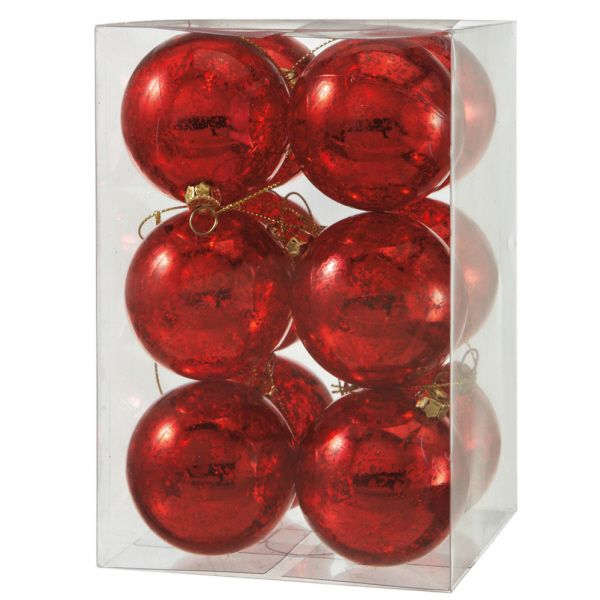The Jolly Christmas Shop - Small Vintage Red Shatterproof Ball