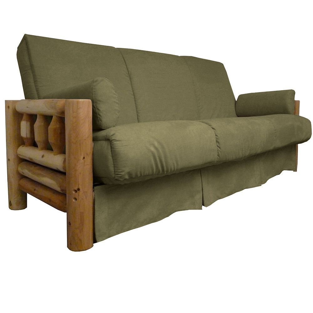 Epicfurnishings Yosemite Perfect Sit And Sleep Lodge Style Pillow Top Futon Sofa Sleeper Bed Queen Size Frame With Suede Slate Upholstery Grey
