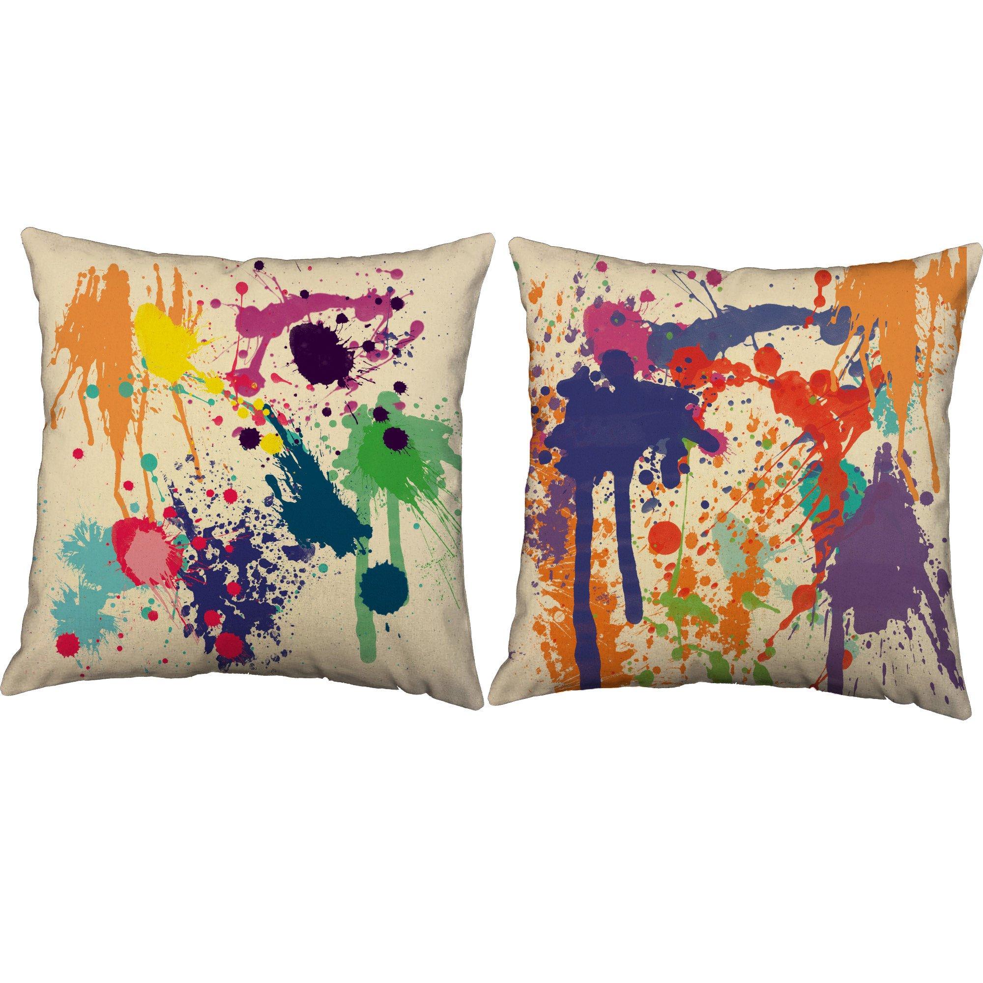 Paint Splatter Throw Pillows Throw Pillows Pillows Outdoor Pillow Covers