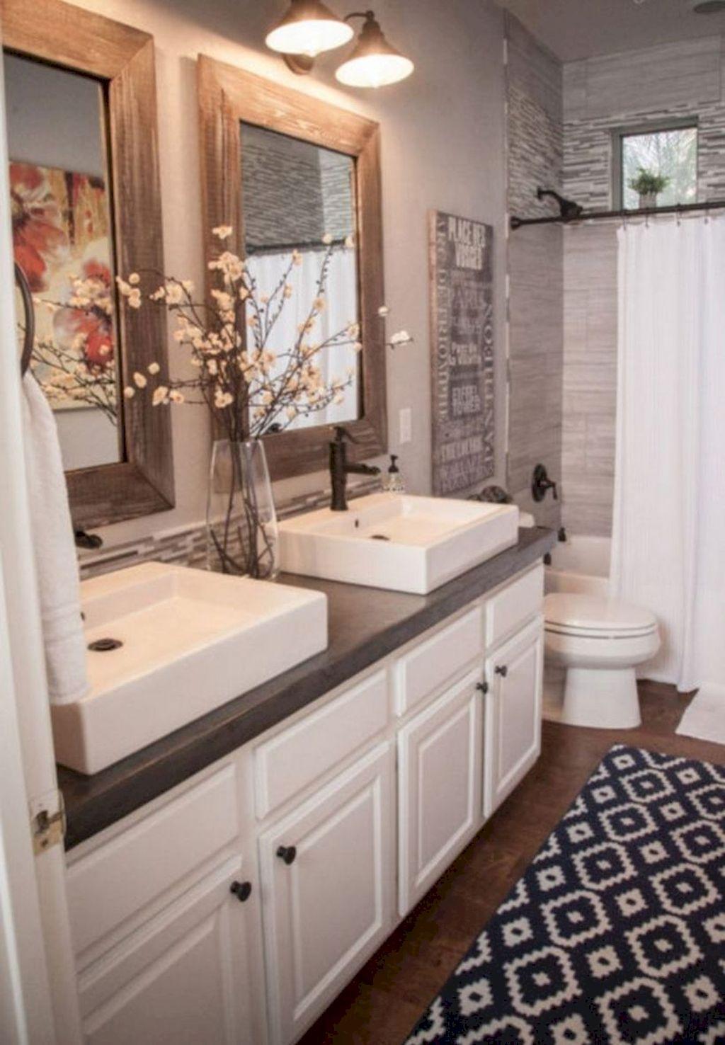 125 Brilliant Farmhouse Bathroom Vanity Remodel Ideas Bathroom Vanity Decor Modern Farmhouse Bathroom