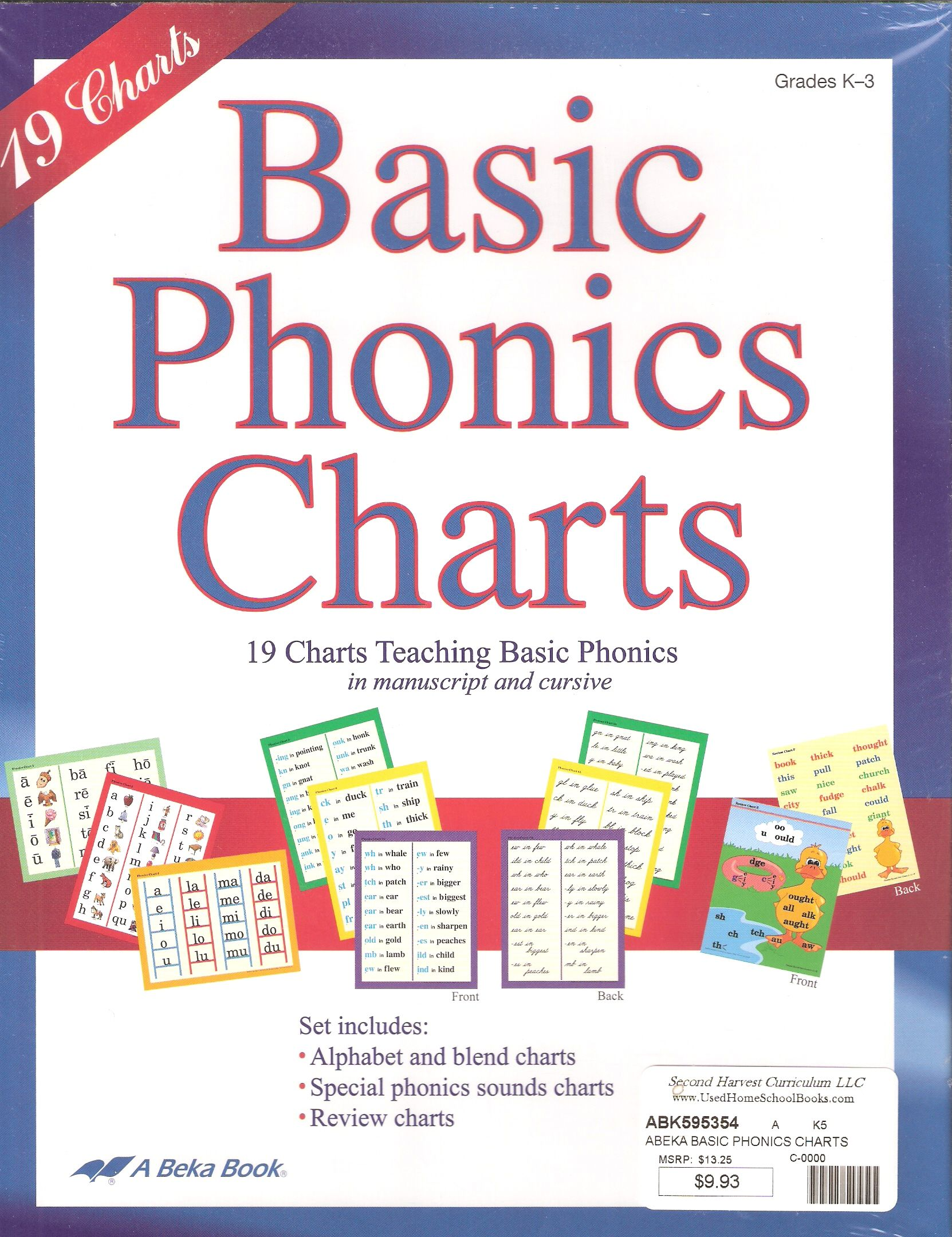 Abeka Basic Phonics Charts Include All Sounds Introduced In Grades 1 3