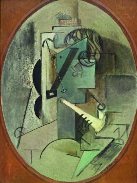 Emil Filla - Hlava muža s fajkou
