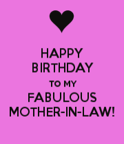 Happy Birthday To My Fabulous Mother In Law Poster Happy Birthday Mother Happy Birthday Mama Quotes Birthday Greetings For Mother