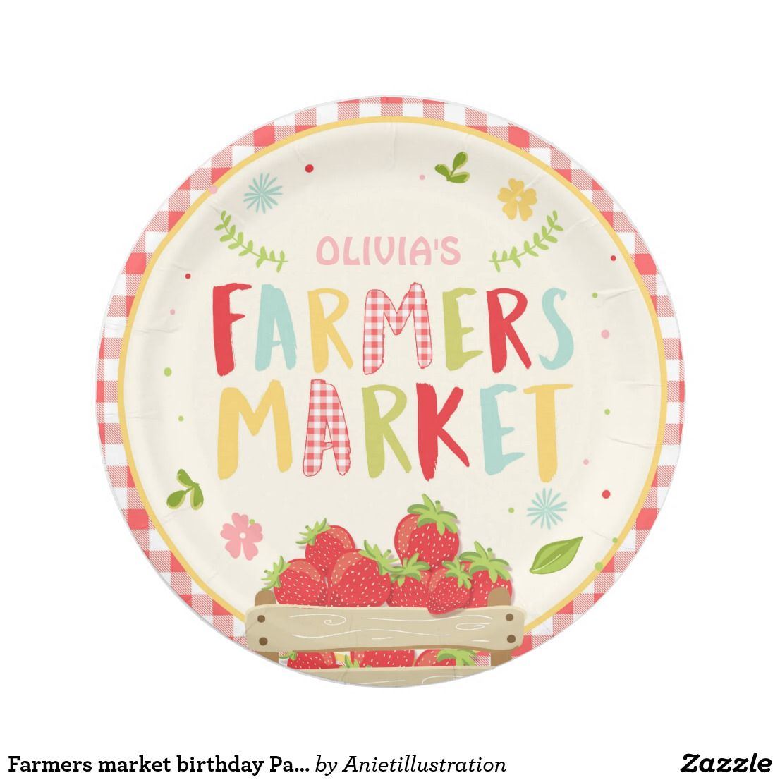 Farmers market birthday Paper Plates Strawberry  sc 1 st  Pinterest & Farmers market birthday Paper Plates Strawberry | Birthdays