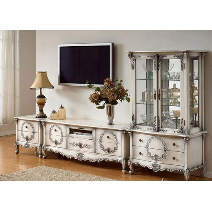 White Painted French Country Entertainment Center Mahogany Wall Unit French Furniture Indonesia F French Country Furniture Entertainment Center Furniture French country entertainment center