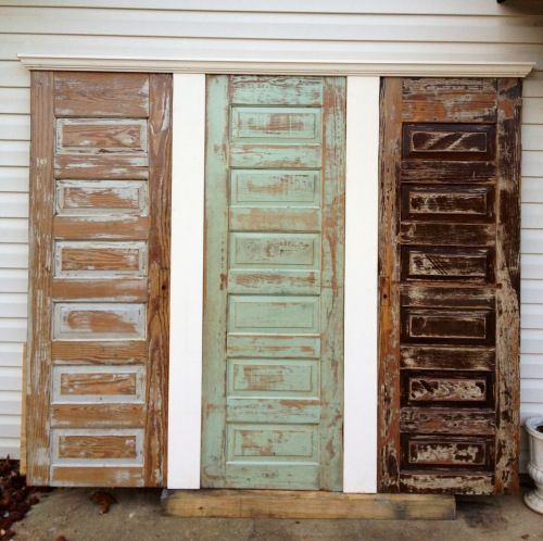 Old Doors Made Into Headboards For King Bed King Size