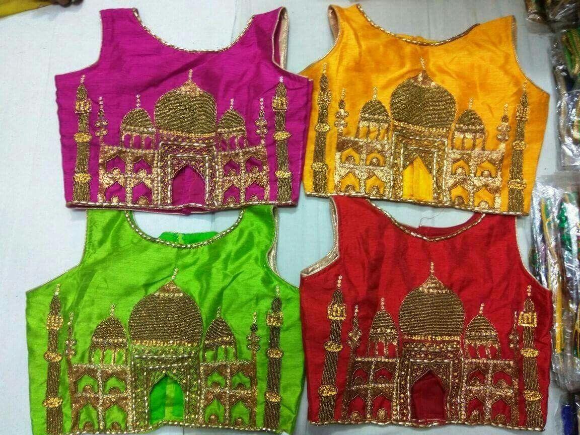 e786b0b3e801d taj mahal design on blouse.jus lovd it