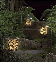 Solar Butterfly Lanterns With Shepherd S Hooks Set Of 2