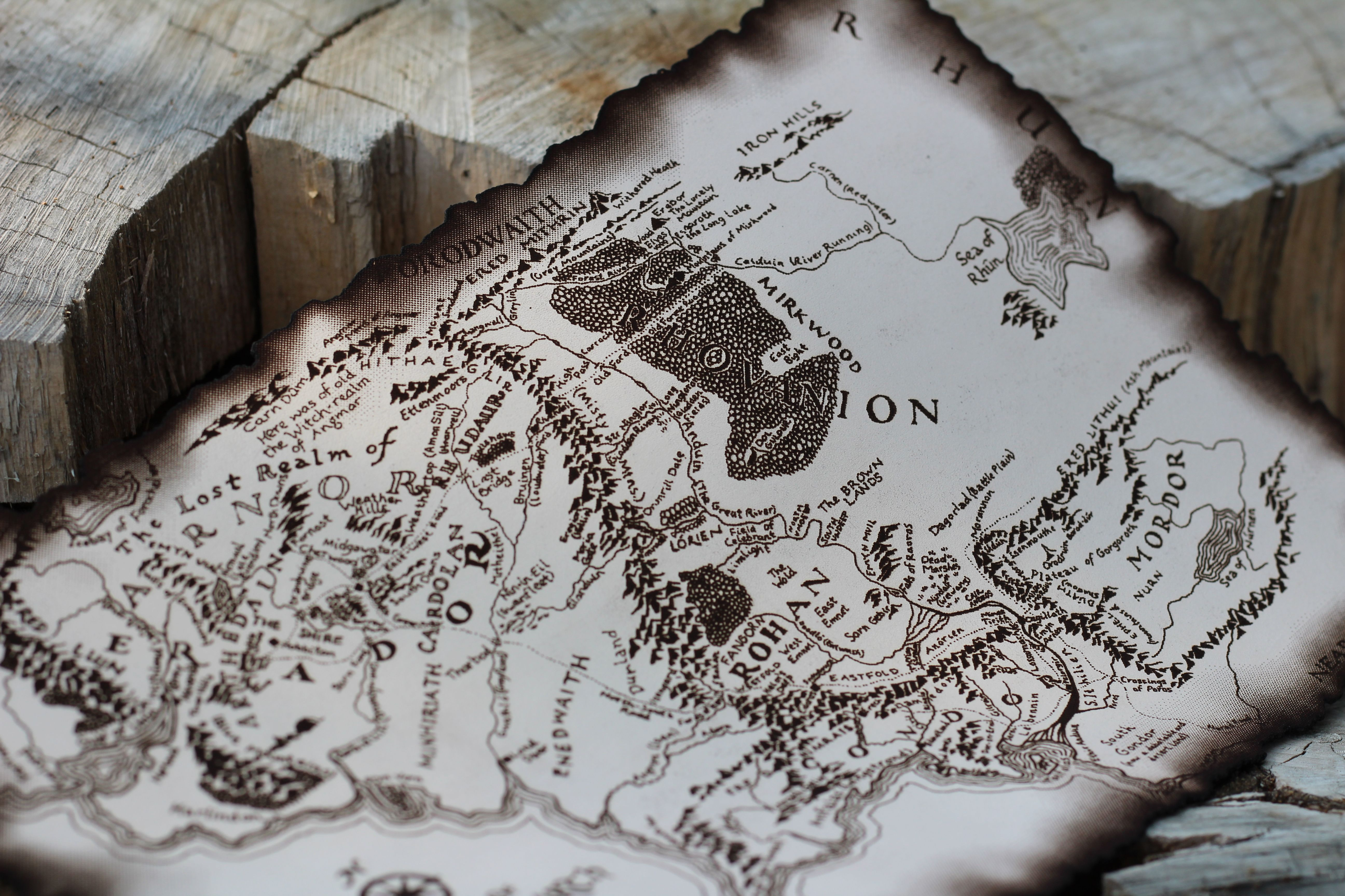Leather map lord of the rings best friend gift hobbit wall decor