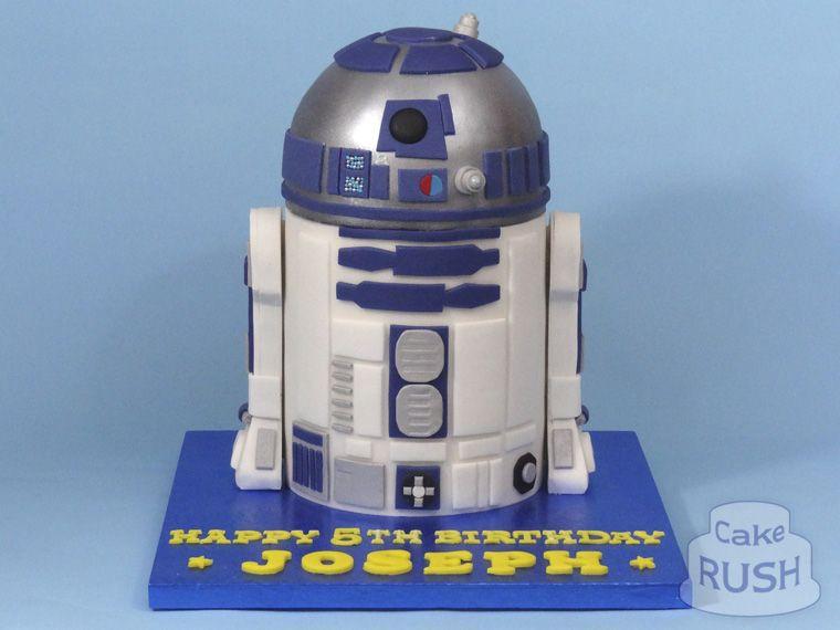 Star Wars R2-D2 cake 2