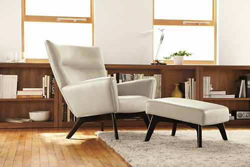 Office Chair?  Boden Leather Chair & Ottoman - Chairs - Living - Room & Board