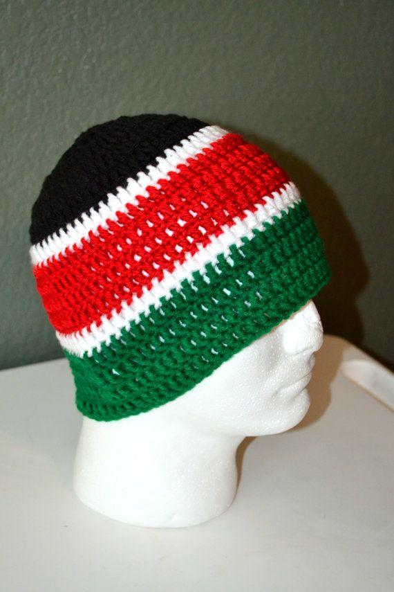 Mega Rasta tam/ Crochet Dread tam/ Rastafarian style tam/ Black and ...